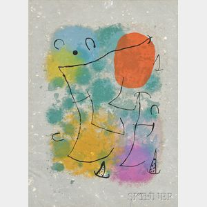 Joan Miró (Spanish, 1893-1983)      Hommage à Rimbaud