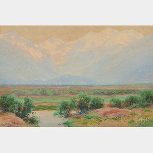 Charles Partridge Adams (American, 1858-1942)      Misty Afternoon, Moraine Park, Estes Park