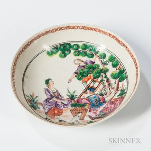 "Export Porcelain ""Cherry Pickers"" Saucer"