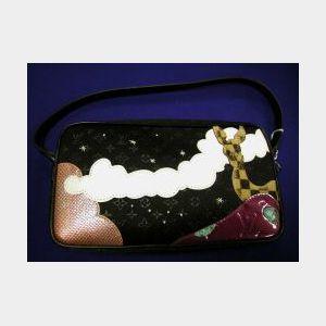 """Silk, Fabric, and Leather """"Conte de Fees"""" Handbag"""