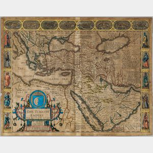 Turkey. John Speed (1552-1629) The Turkish Empire.