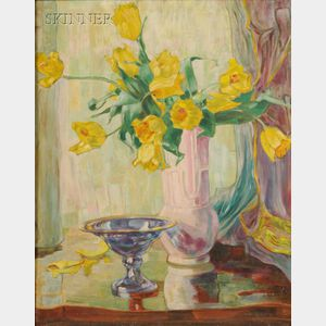 American School, 20th Century      Still Life with Tulips