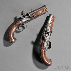 Pair of Continental Flintlock Pistols
