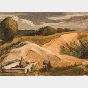 Attributed to John Steuart Curry (American, 1897-1946)    Gravel Pit