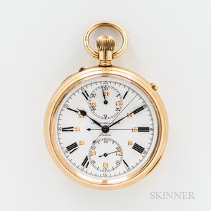 Thomas Russell & Son 18kt Gold Split Second Watch