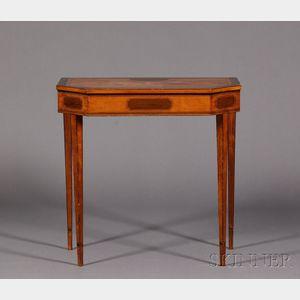 Late Georgian Crossbanded Satinwood Side Table