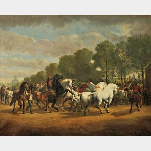 After Rosa Bonheur (French, 1822-1899)      Copy After The Horse Fair