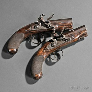Pair of Nock Flintlock Pistols