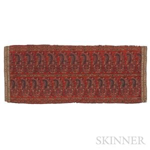 Kashmir Shawl End Panel
