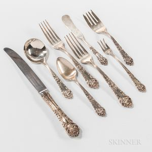 "Reed & Barton ""French Renaissance"" Pattern Sterling Silver Flatware Service"