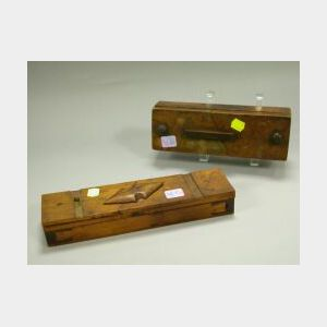 Two Sailor-made Wooden Puzzle Boxes
