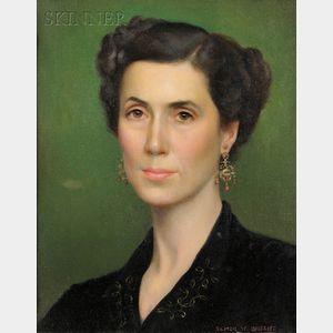 Elmer Wesley Greene  (American, 1907-1964)      Portrait of Sara Athrop Thayer of Dedham, Massachusetts