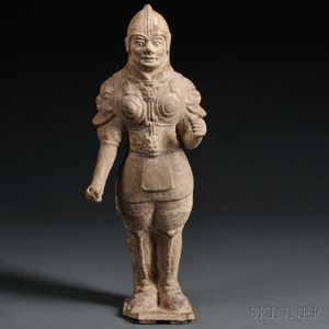Tang-style Pottery Figure of a Tomb Guardian, Wushiyong