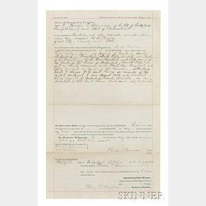 Barnum, Phineas T. (1810-1891) Quit-Claim Deed, 15 October 1888.