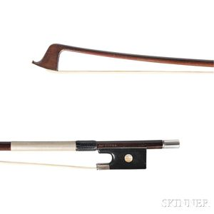 English Silver-mounted Violin Bow, James Tubbs, London, c. 1895