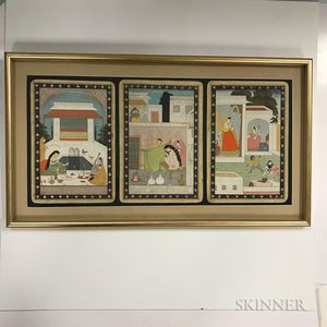Three Book Illustrations in a Frame