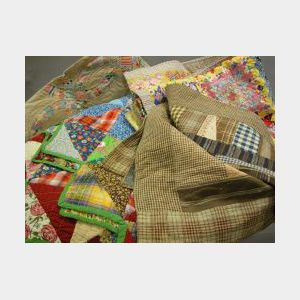 Four Pieced Cotton Quilts.