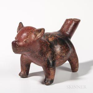 Colima Pottery Dog Vessel