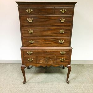 Irving & Casson/A.H. Davenport Queen Anne-style Mahogany High Chest