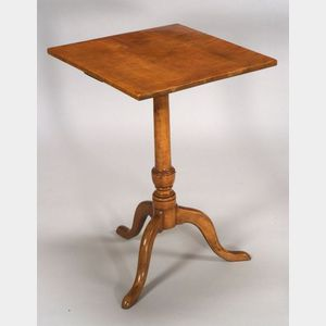 Federal Tiger Maple Candlestand