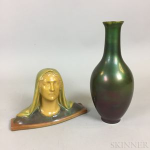 Two Zsolnay Pottery Items