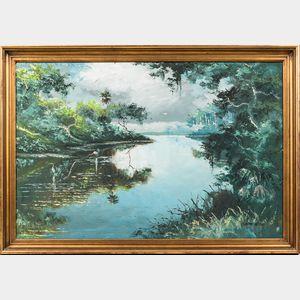 Sam Newton (American, b. 1948)      Florida Landscape