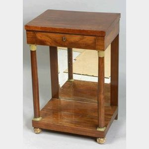 Continental Empire Gilt Bronze Mounted Mahogany Side Table