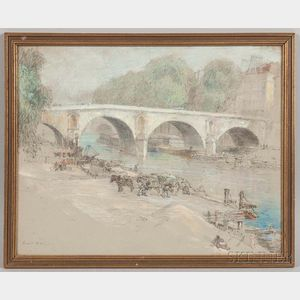 Louis Orr (American, 1879-1961)      Pont Royale, Paris