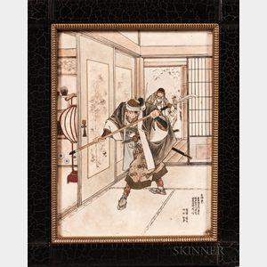 Satsuma Porcelain Plaque