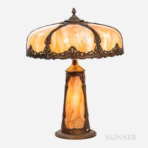 Caramel Slag Glass Lamp
