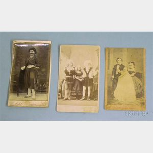 Three 19th/Early 20th Century Circus Performers' Cartes de Visite