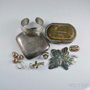 Group of Sterling Silver Jewelry and Boxes