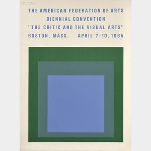 Josef Albers (American, 1888-1976)      The Critic and the Visual Arts