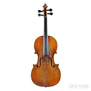 French Violin, Mirecourt, Mid-19th Century