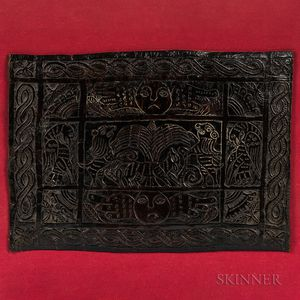 Tooled Leather Panel