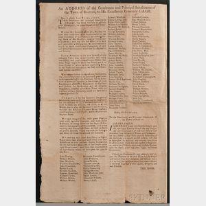 (Broadside, Revolutionary War), Gage, Thomas (1721-1787)