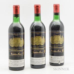 Chateau Palmer 1970, 3 bottles