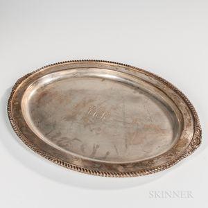 "International ""Lord Robert"" Pattern Sterling Silver Tray"