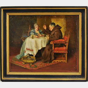 German School, 19th Century      Playing Cards with the Friar