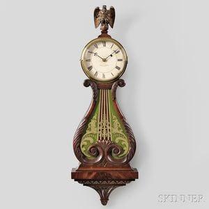 """Walter Durfee """"Harp-pattern Timepiece"""" or Lyre Clock"""