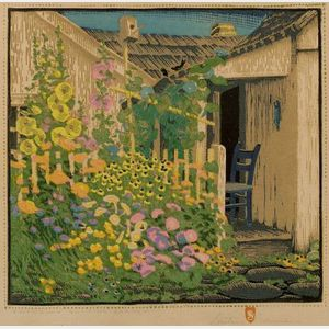 Gustave Baumann (German/American, 1881-1971)    Grandma Battin's Garden