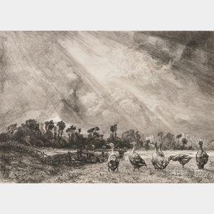 Félix Bracquemond (French, 1833-1914)      La nuée d'orage