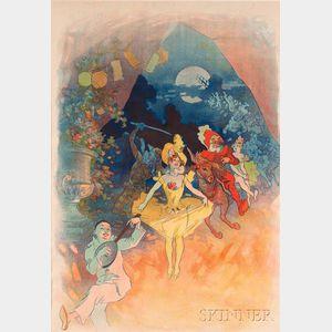 Jules Chéret (French, 1836-1932)      Musée Grévin. Théatre les Fantoches
