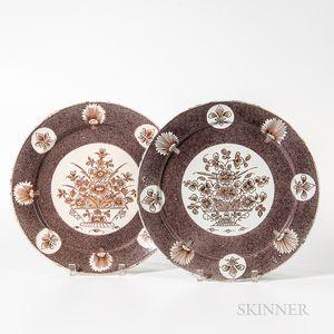 Two English Tin-glazed Earthenware Plates