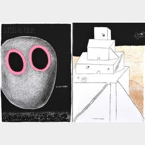 Ettore Sottsass (Italian, 1917-2007)      Two Works:  Il Futuro