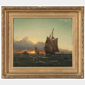 James Gale Tyler (Connecticut/New York, 1855-1931)      Sunset Seascape