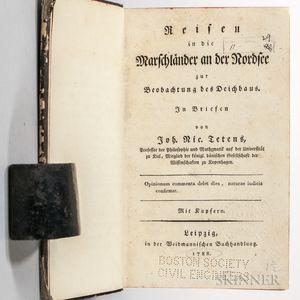Tetens, Johann Nikolaus (1736-1807) Reisen in die Marschlander an der Nordsee zur Beobachtung des Deichbaus: in Briefen.