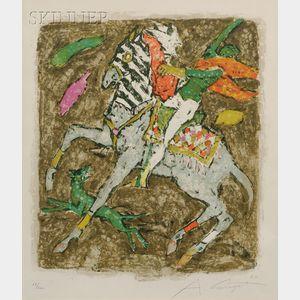 Alois Carigiet (Swiss, 1902-1985)      Lot of Two Horse Subjects: Beim Gaden