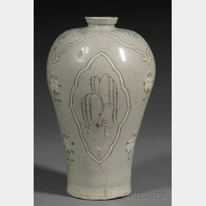 Sold for: $59,250 - Stoneware Vase