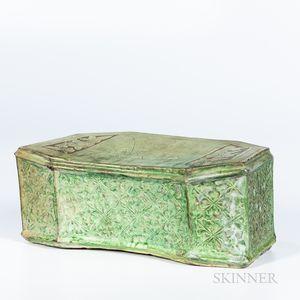 Green-glazed Cizhou Pillow